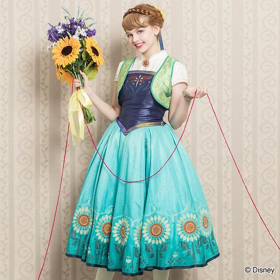Secret Honey Frozen Anna surprise summer sunflower Halloween costume set