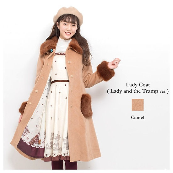 Secret Honey Lady and the Tramp camel lady coat