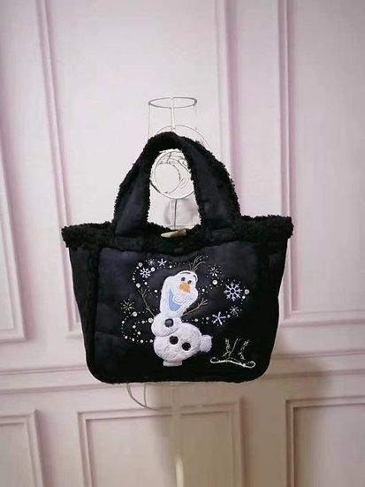 Secret Honey Frozen Olaf black handbag