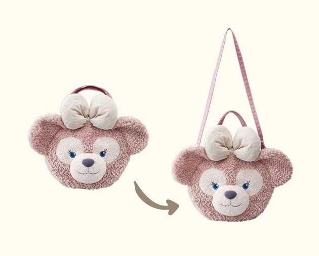 Disney Duffy Shellie may Duffy bear head three-ways bag