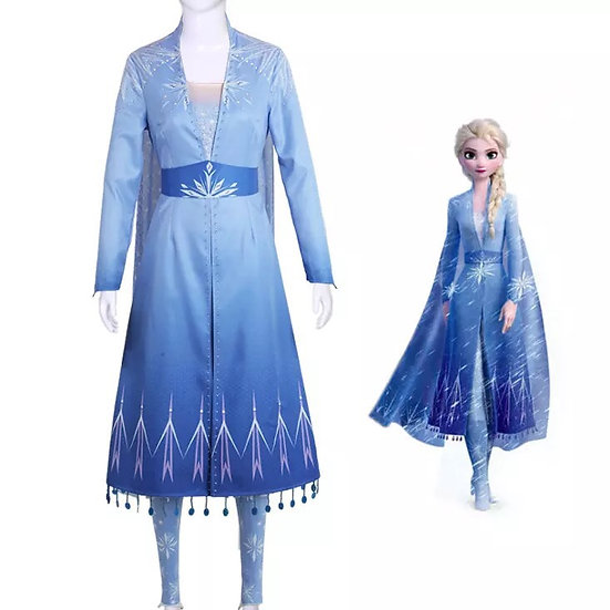 Dreamy collection Frozen 2 Elsa dress, coat and pant