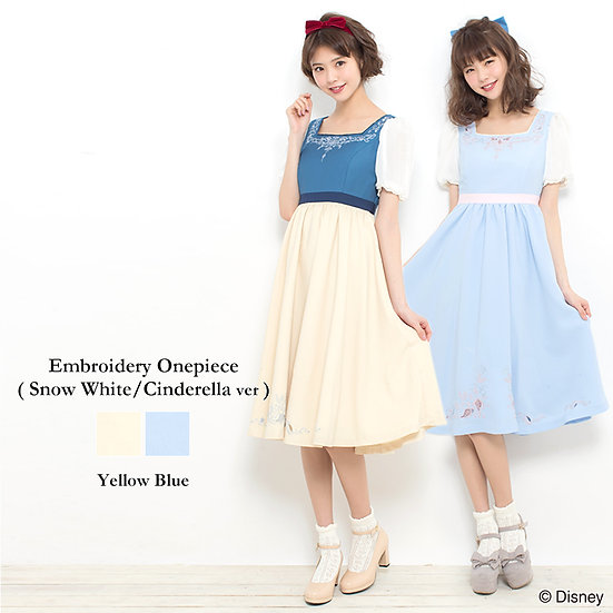 In stock:Secret Honey Snow white or Cinderella embroidery one piece dress