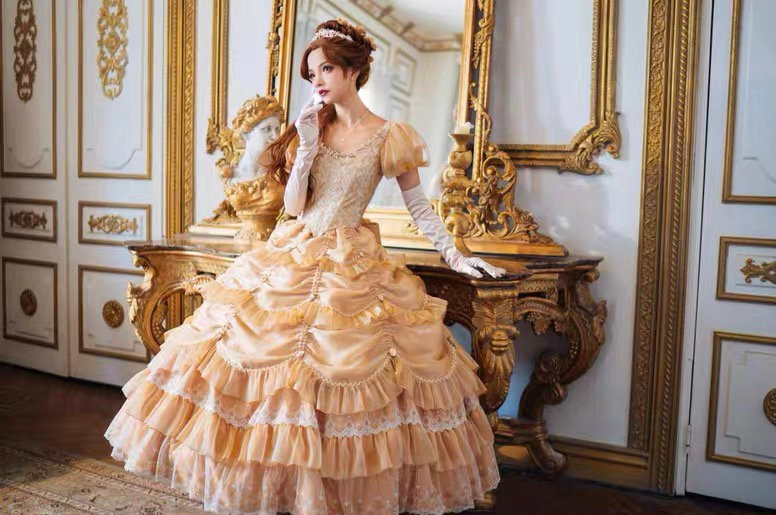 Alois Wang x beauty and the beast tale as old as time belle dress