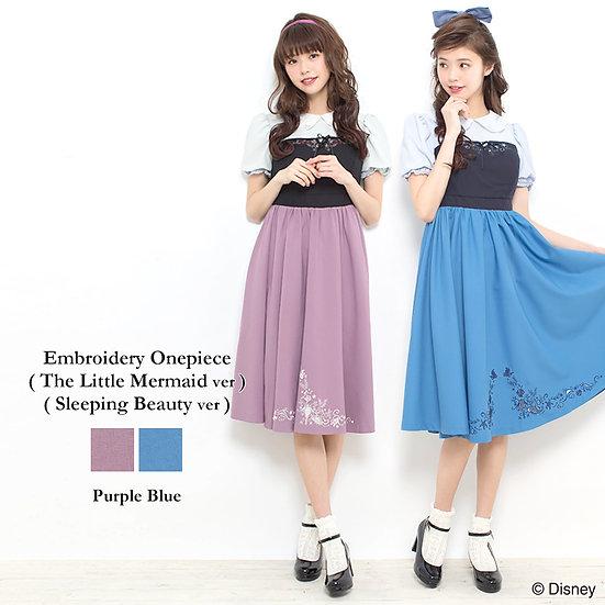 Secret Honey Princess Ariel and Aurora embroidery dress