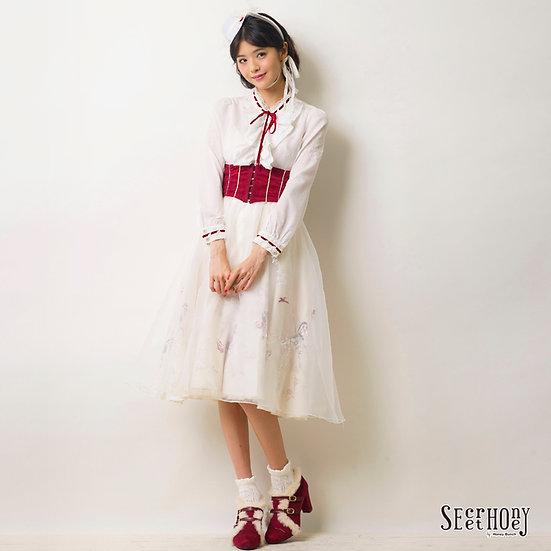 Secret Honey Mary Poppins dress full set up(hat,shirt,girdle skirt)
