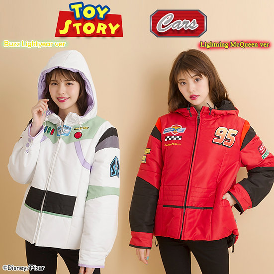 Secret honey Toy Story Buzz Lightyear and Car lighting mcqueen Reversible Jacket