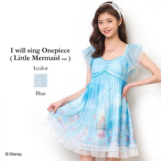 Japan Disney Secret Honey Little Mermaid Princess Ariel I will sing short dress