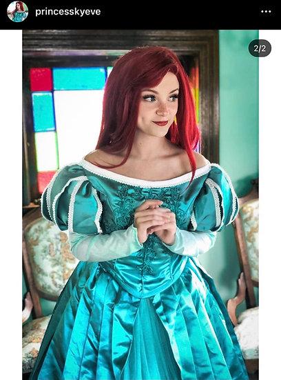 Disney Dreamy collection: Little mermaid Princess Ariel green embroidery dress