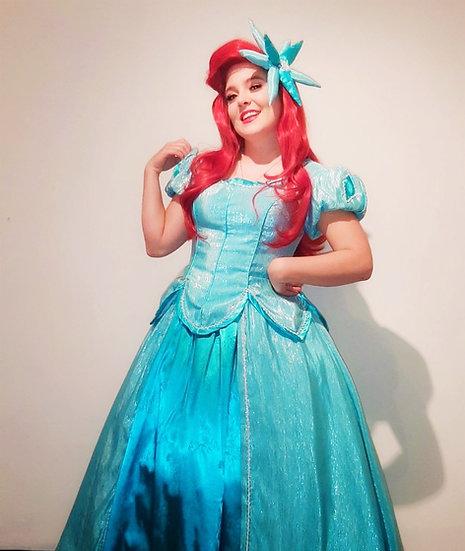 Disney Dreamy collection : Little mermaid Princess Ariel aqua beading gown