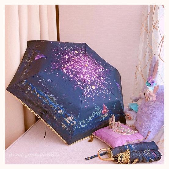 Japan Disney store Tangled Princess Rapunzel I see the light fordable umbrella