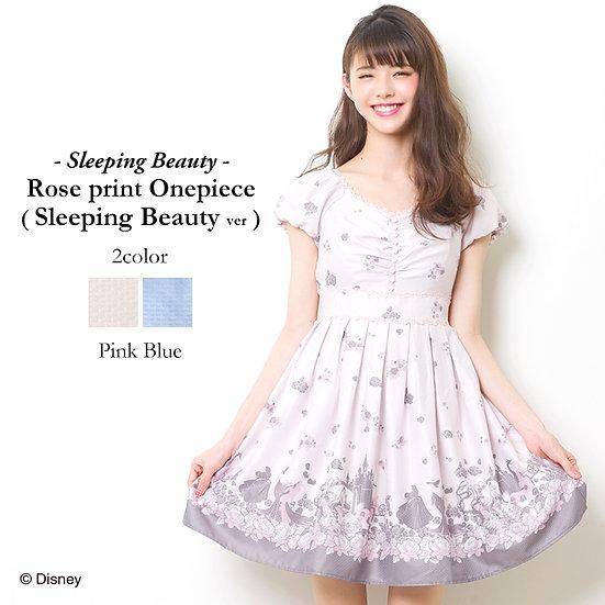 Secret Honey Sleeping beauty Rose Print One piece