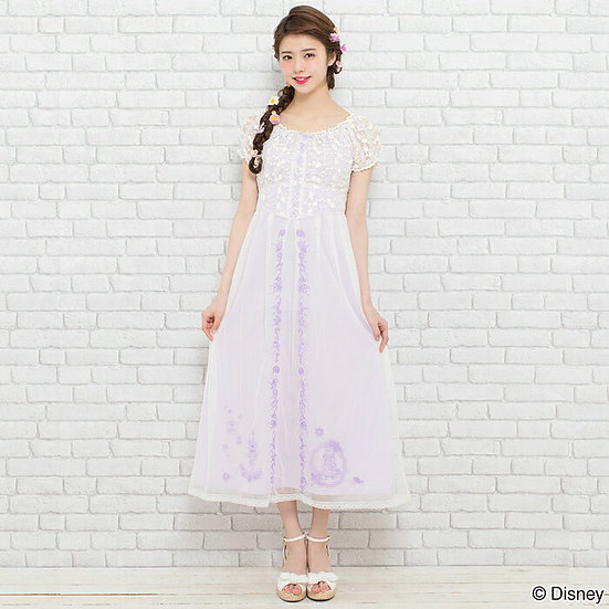 Secret honey Tangled Rapunzel long embroidery dress