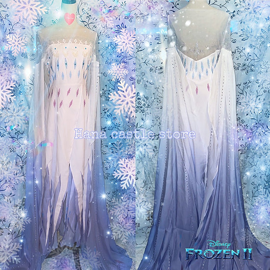 Disney Frozen 2 Elsa crystal white dress