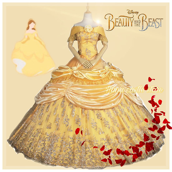 Dreamy collection beauty and the beast tailor made dress
