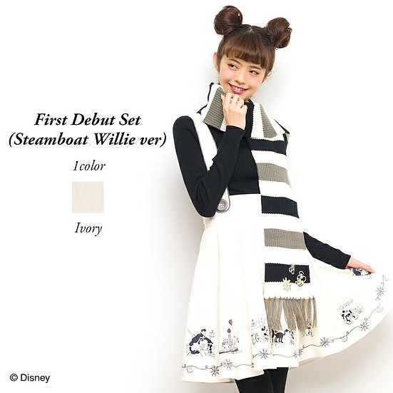 Secret honey Disney Mickey first debut steamboat Willie skirt and scarf