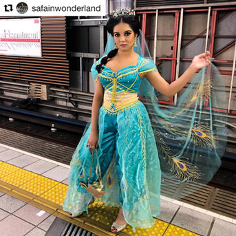 Aladdin Jasmine live action pant set