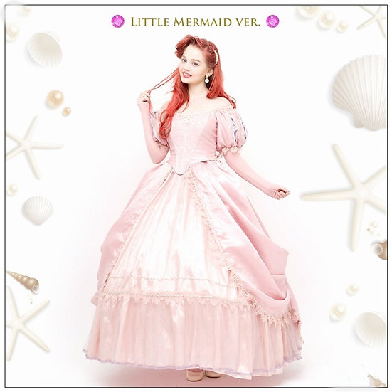 Secret honey little mermaid first deluxe dinglehopper pink dress