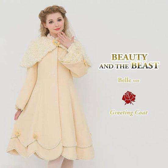 Secret Honey Beauty and the beast Belle greeting cape coat