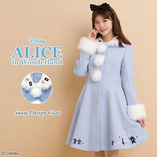 Secret Honey Disney Alice in wonderland Snow design coat