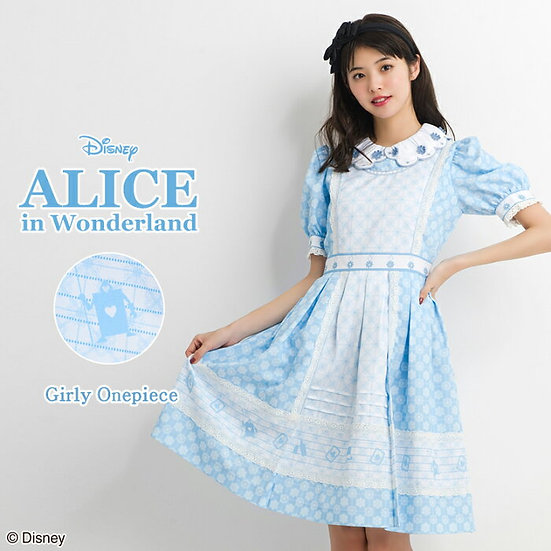 Secret honey Alice in wonderland girly one piece