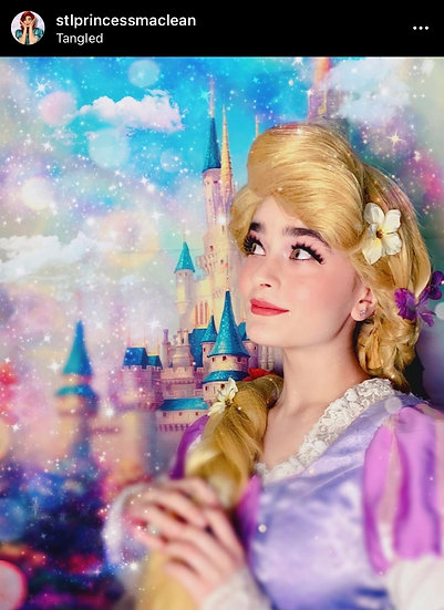 The Princess Disney Castle  Fairy tale oil paintings style backdrop