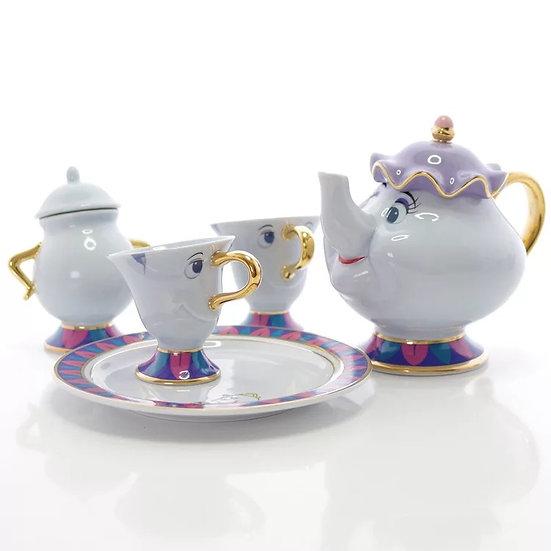 Tokyo Disney resort limited items Mrs pott and chip teapot and mug sugar jar set