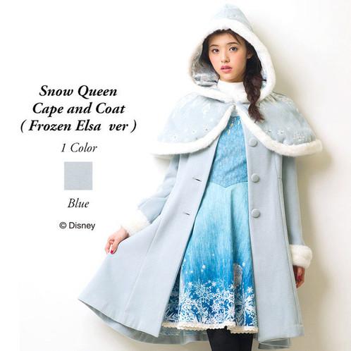 secret frozen elsa honey snow queen cape coat