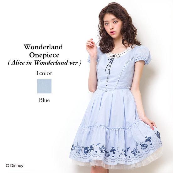 Japan Disney Secret honey Alice in Wonderland Wonderland 2010 One piece dress