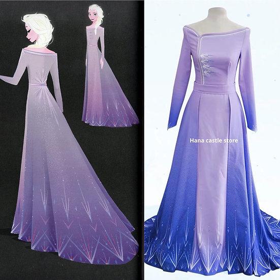 Dreamy collection Frozen2 Elsa purple dress: preorder items