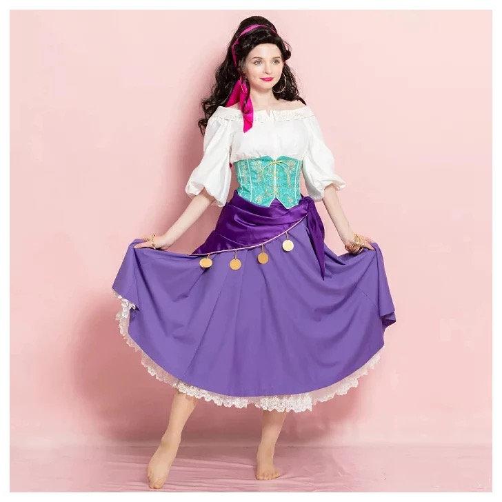 Costume Halloween Esmeralda.Secret Honey Esmeralda Halloween Dress 2018 Version Hana Castle Store