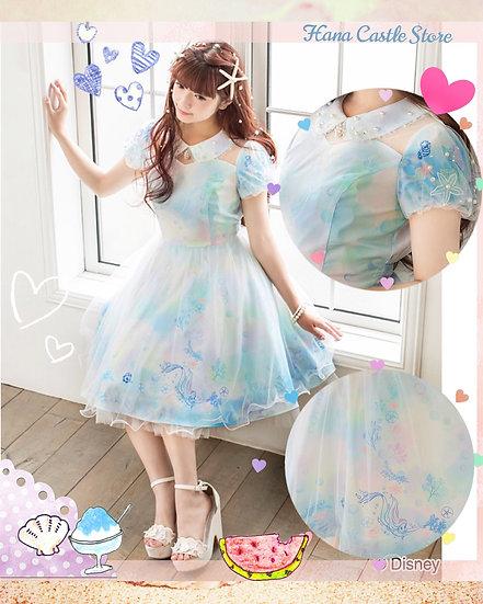 Secret Honey Little mermaid Ariel 2018 new pastel collar dress