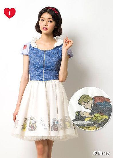 Japan Disney Secret Honey Snow white one piece dress