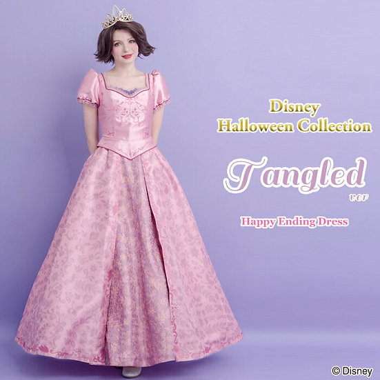 Secret Honey Tangled Rapunzel happy ending pink wedding dress