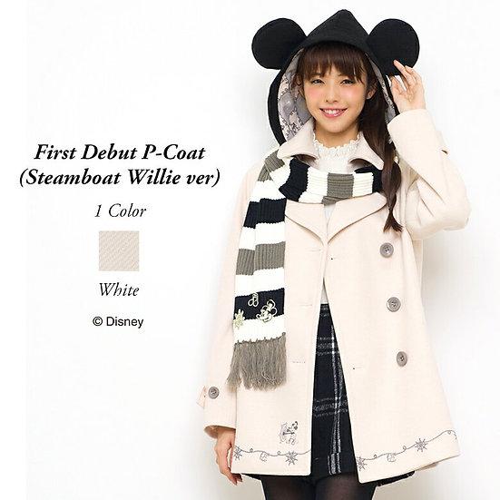 Secret Honey Disney Mickey First Debut Steamboat Willie White P-Coat