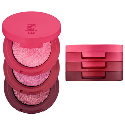 Kaja Beauty Bento Bouncy Shimmer Eyeshadow Trio- Sparkling Rose