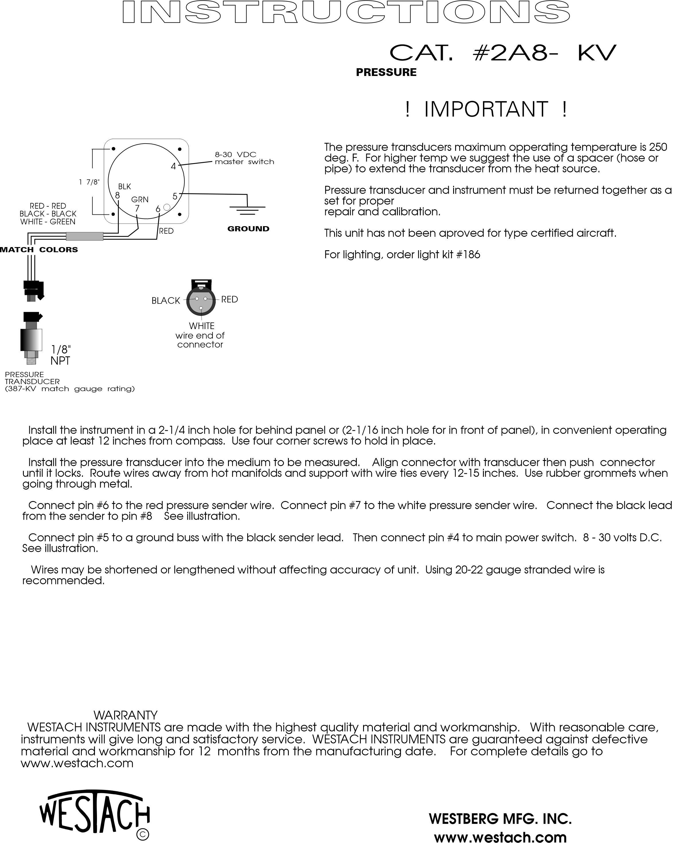 [DIAGRAM_3NM]  2A8-8KV | Westach | Westach Tachometer Wiring |  | Westach