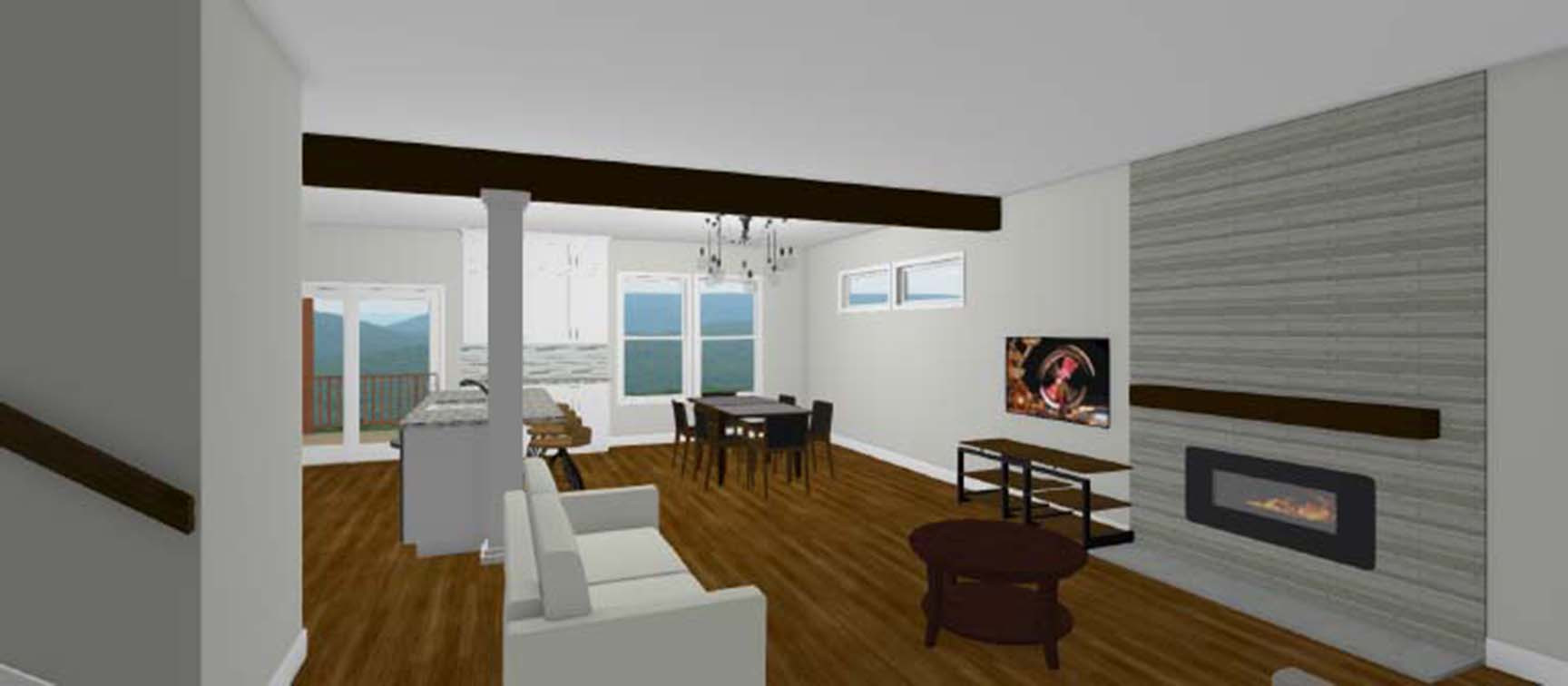 The Orlando Living and Dining Rendering