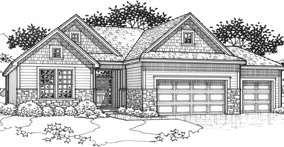 The Hawthorne Traditional Elevation