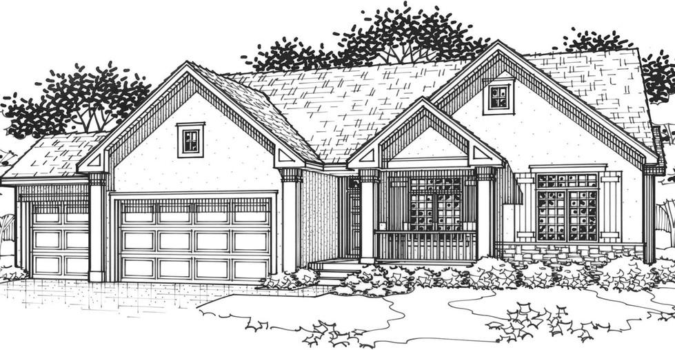 The Cedarwood Flex Full Porch Elevation