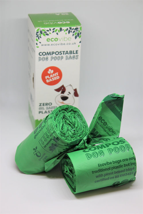 BIODEGRADABLE COMPOSTABLE POOP BAGS (50 BAGS)