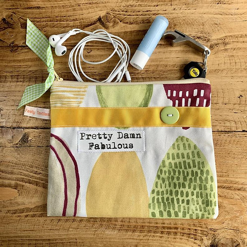 TOUCHY FEELY TEXTILES POUCH