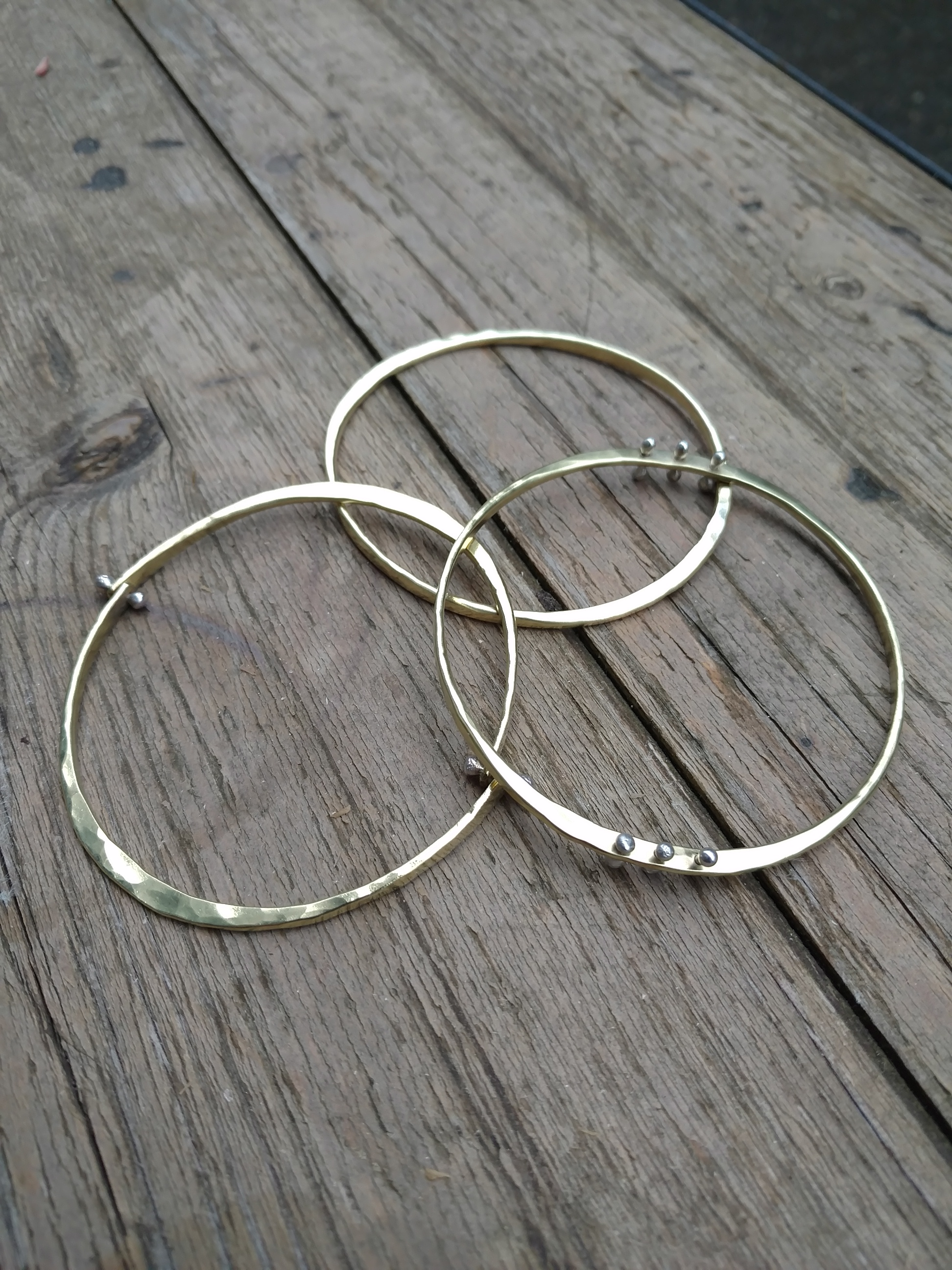 brass and silver bangles