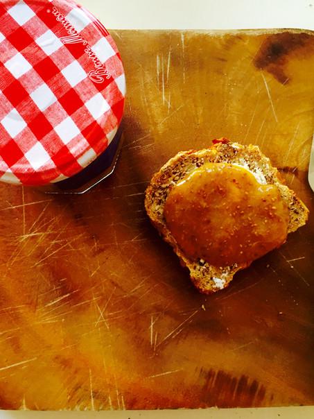 Nectarine Rabarber jam