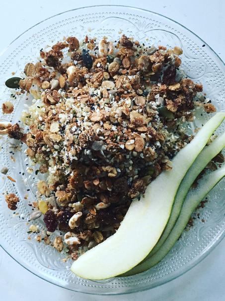 Quinoa cruesli met fruit