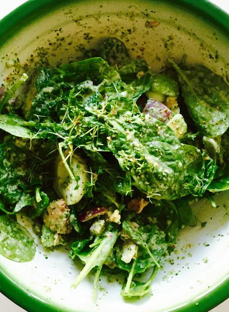 Tonijn spinazie salade