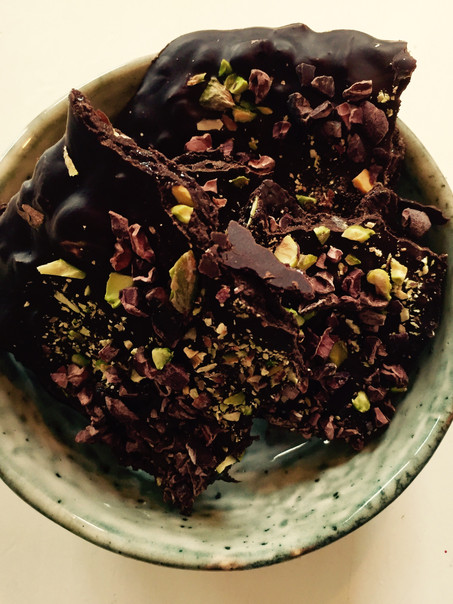 Homemade honing pistache chocolade