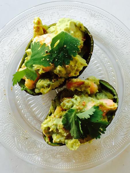 Avocado garnalen salade