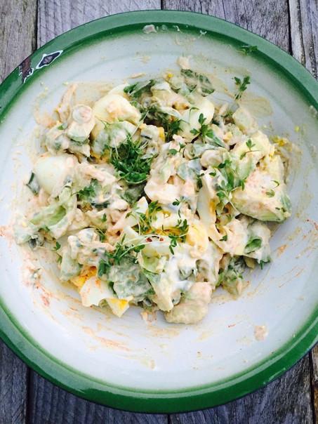 Avocado-eier salade