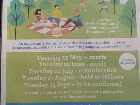 Join us for themed community picnics throughout the summer months (Weather Dependent)