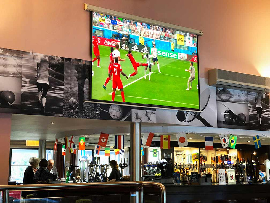 "The Balcony cafe bar - 120"" Big screen"
